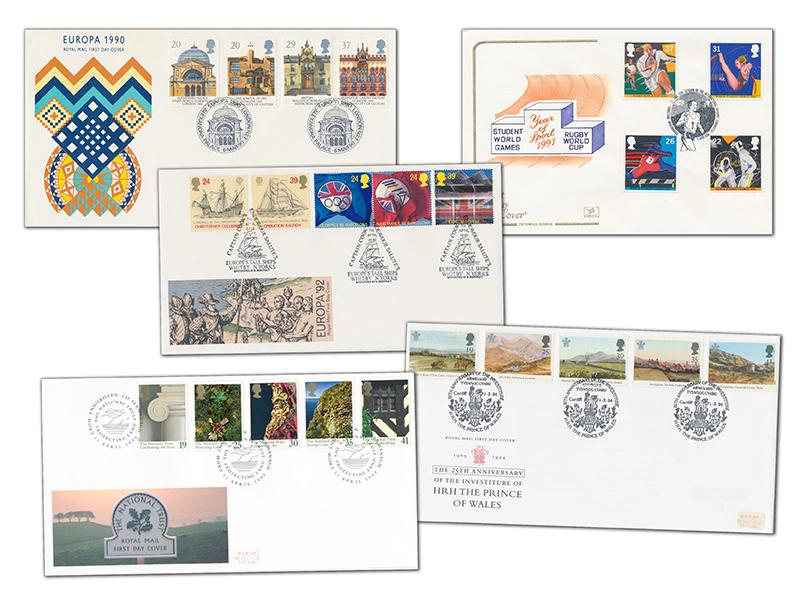 20 First Day Covers from the 1990s