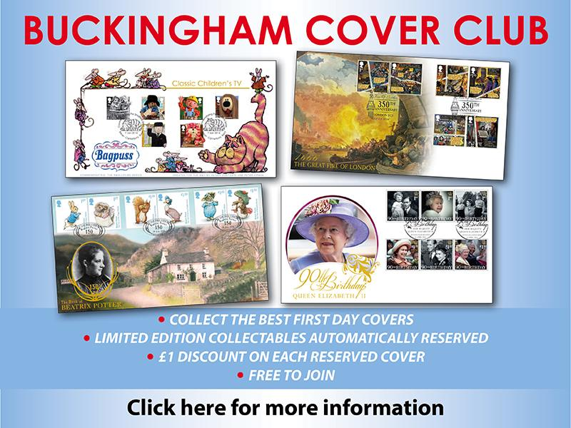 K - Join the Buckingham Cover Club (unsigned) First Day Covers