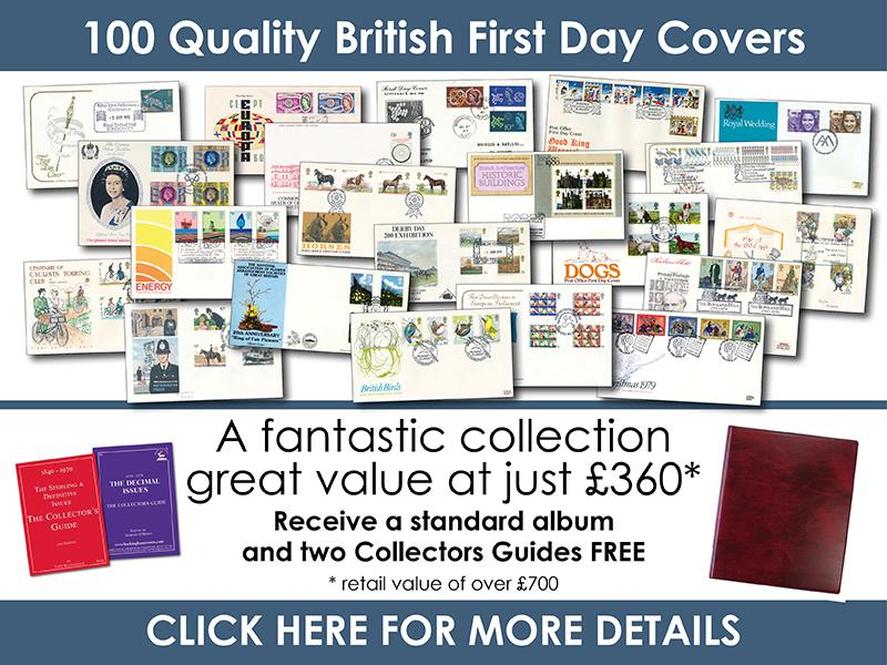 P - 100 British First Day Covers First Day Covers