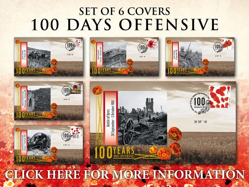 D - 100 Days Offensive Commemorative Collection First Day Covers