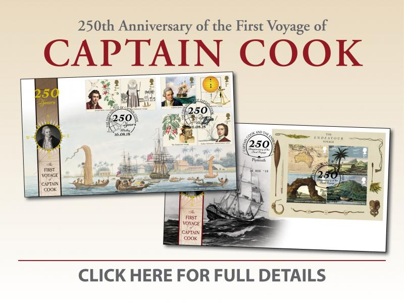 B - Captain Cook First Day Covers