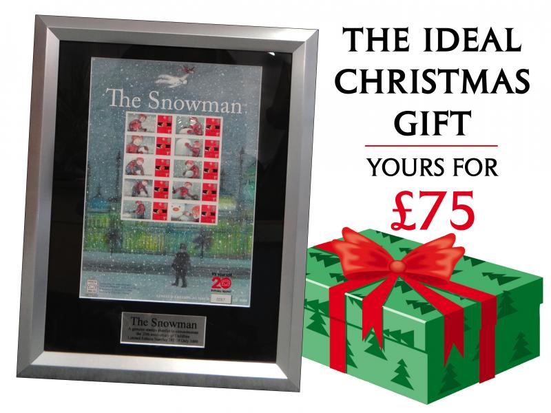H - Framed Snowman Sheet First Day Covers