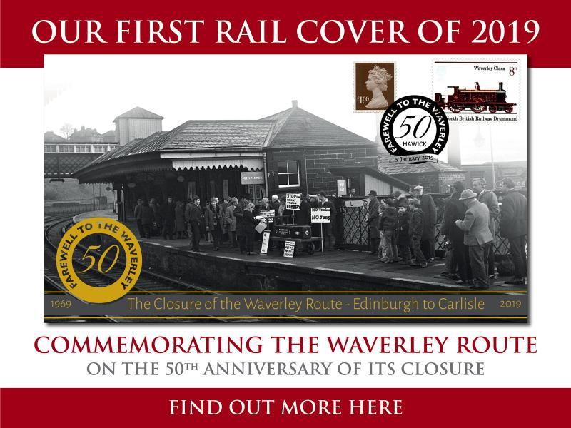 B - Waverley Rail Cover First Day Covers