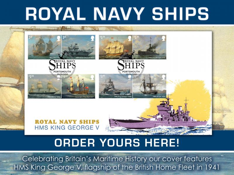 D - Royal Navy Ships First Day Covers